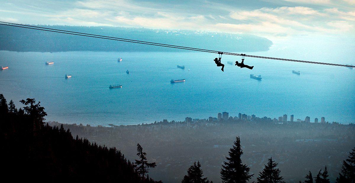 1131_VAN_Vancouver - Grouse Mountain - Ziplining with Vancouver - Credit Grouse Mountain