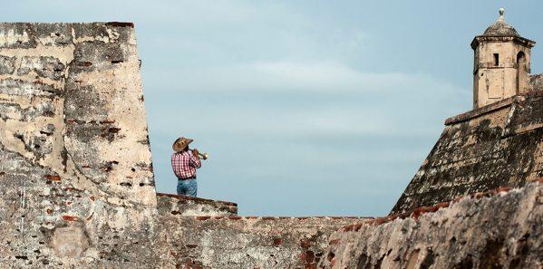 Vista de la muralla del Castillo de San Felipe de Barajas en Car