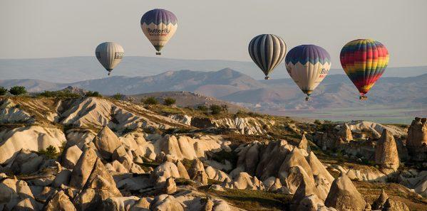 Goreme, Cappadocia, Turkey – April 25, 2018: hot air balloons